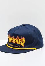 THRASHER THRASHER FLAME ROPE HAT NAVY HAT SNAPBACK