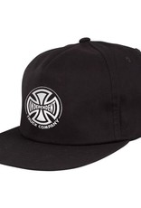 INDY INDEPENDENT HAT BLACK UNSTRUC. SNAPBACK