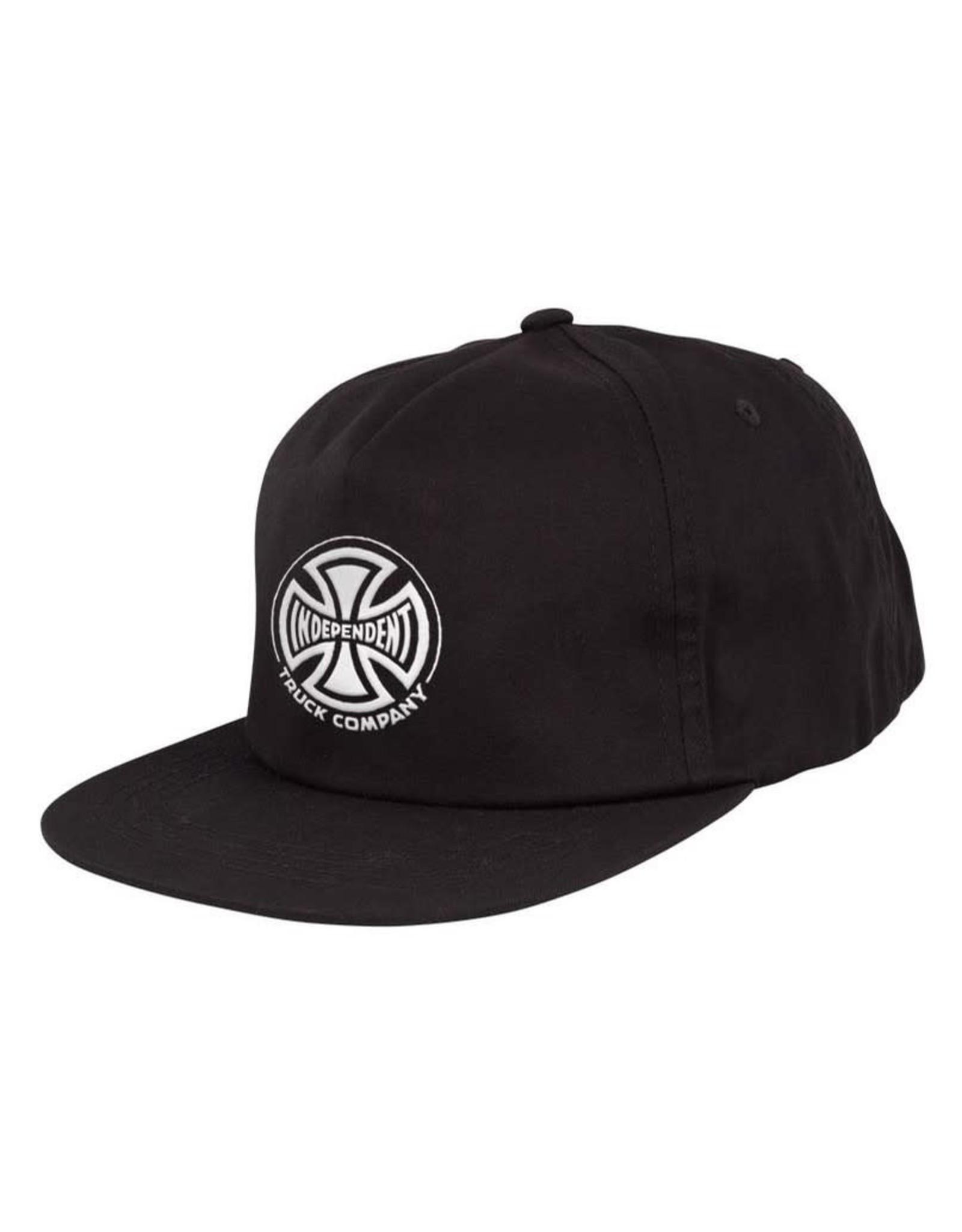 INDY INDEPENDENT HAT BLACK UNSTRUC. SNAPBACK