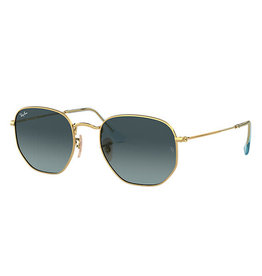 RAY BAN RAY BAN RB3548 HEXAGONAL FLAT GOLD W/BLUE GRADIENT