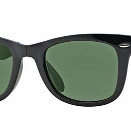 RAY BAN RAY BAN RB4105 FOLDING WAYFARER BLACK W/CRYSTAL GREEN
