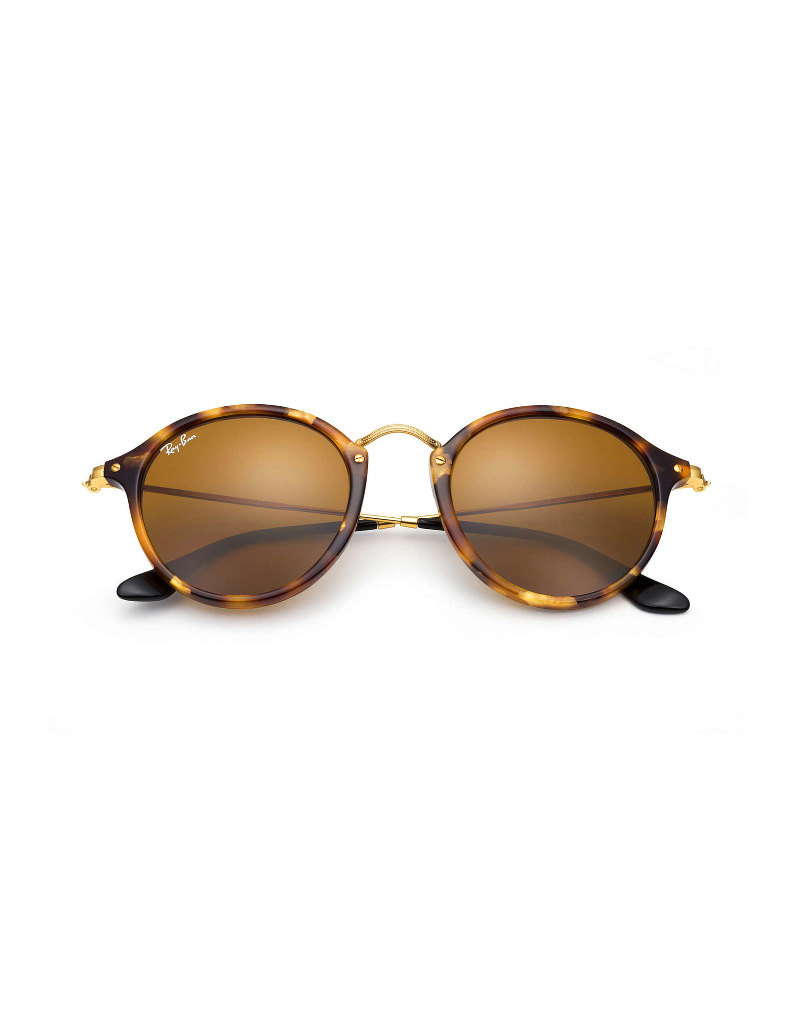 RAY BAN RAY BAN RB2447 ROUND SPOTTED BROWN HAVANA W/BROWN