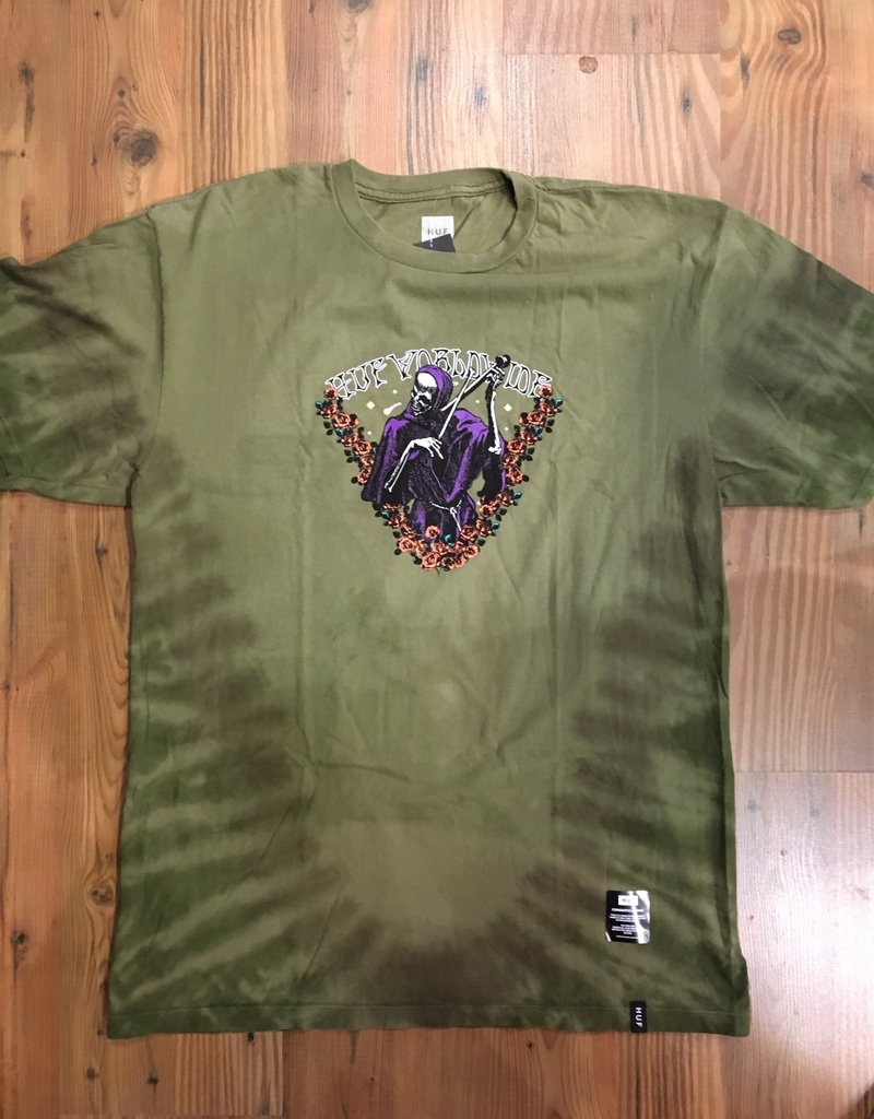 HUF HUF PRAYERS TIE DYE TEE SHIRT