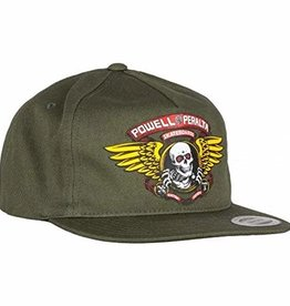 POWELL POWELL WINGED RIPPER SNAPBACK HAT MILITARY GREEN