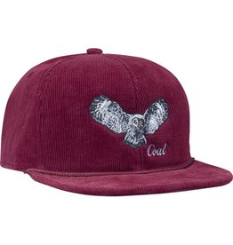 COAL COAL WILDNERNESS SNAPBACK CAP BURGUNDY OWL