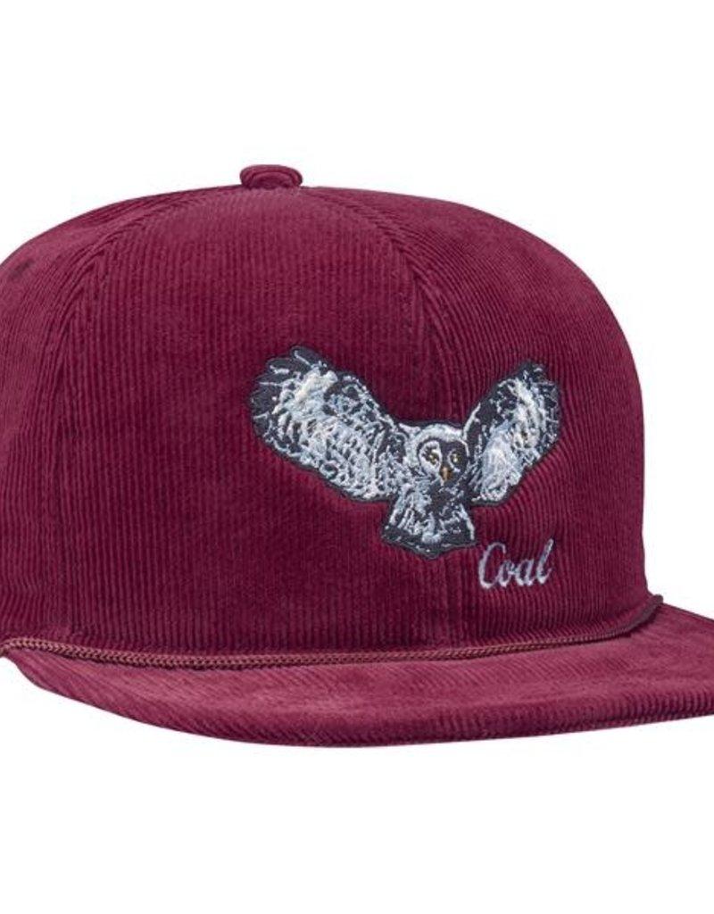 COAL COAL WILDNERNESS SNAPBACK CAP BURGUNDY OWL