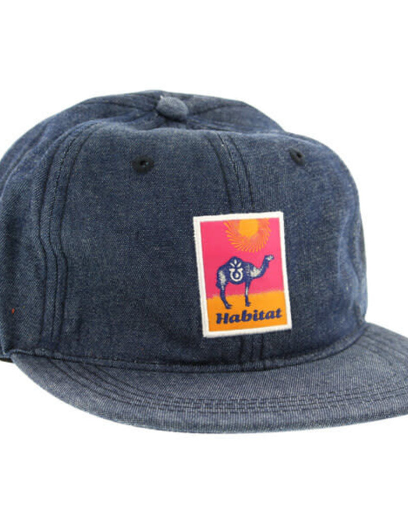 HABITAT HABITAT GOBI PATCH STRAPBACK HAT DENIM
