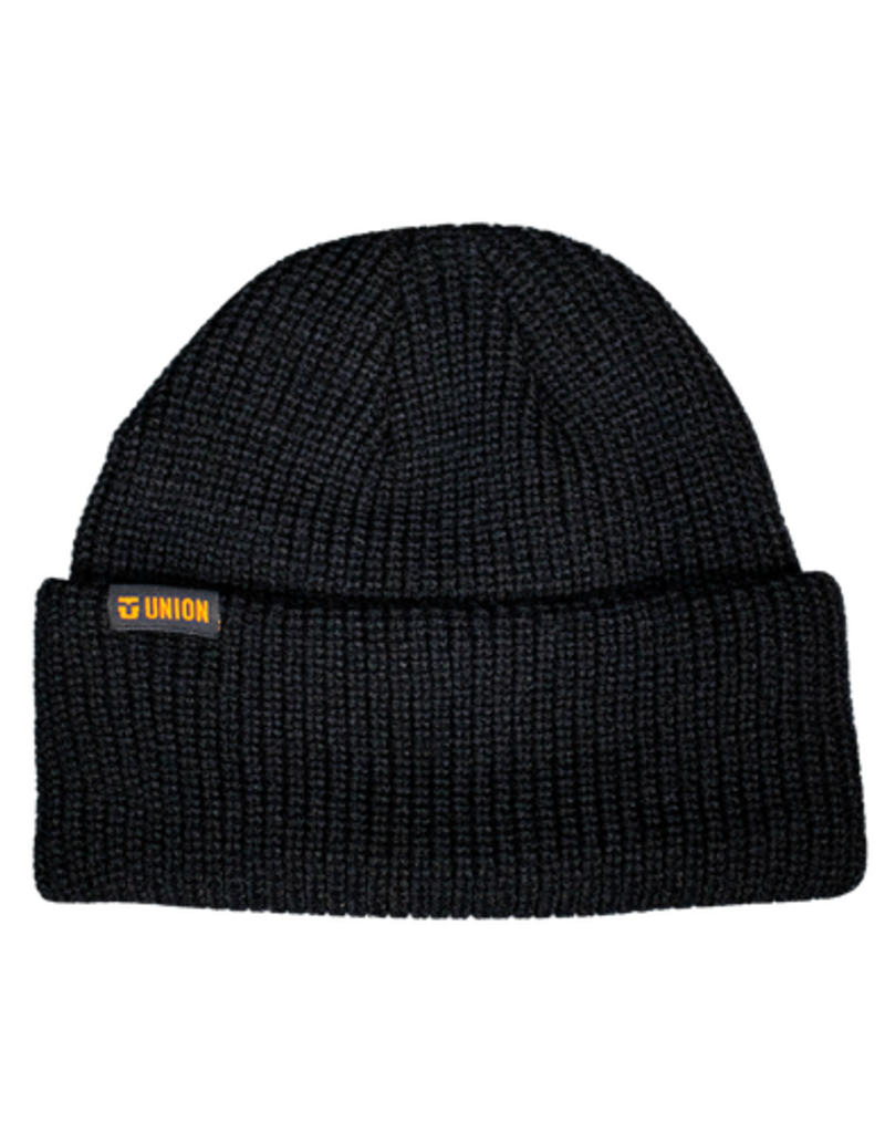UNION UNION BLACK FOLD BEANIE