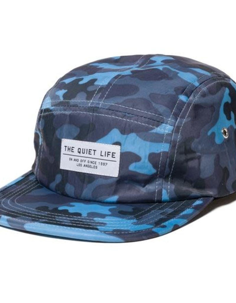 THE QUIET LIFE THE QUIET LIFE BLUE CAMO 5 PANEL CAMPER CAP