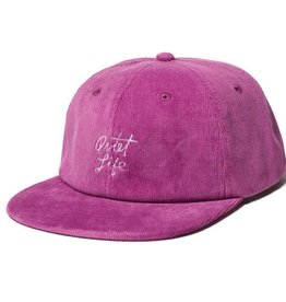 THE QUIET LIFE THE QUIET LIFE BEACH CORD POLO HAT MAGENTA