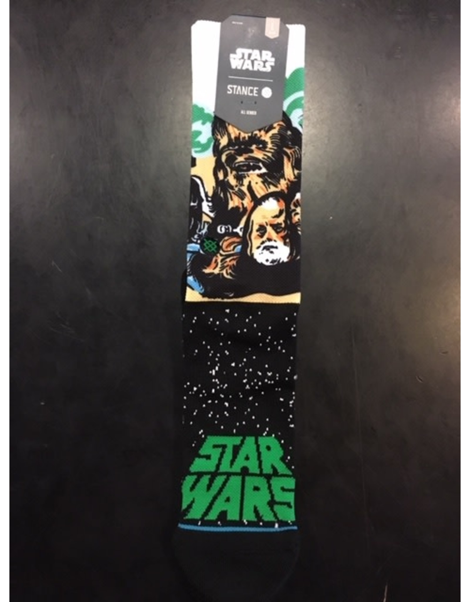 STANCE STANCE STAR WARS CHEWBACCA HAN OBI-WAN SOCK LARGE MENS