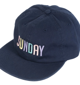 SUNDAY SUNDAY SHAPE HAT UNSTRUCTURED NAVY BLUE CLIPBACK