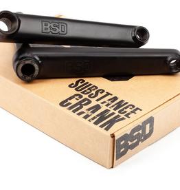 BSD BSD SUBSTANCE 165MM BLACK BMX CRANKS