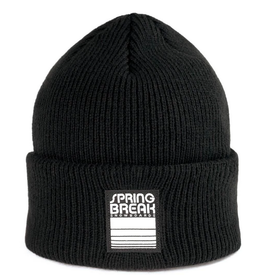 SPRING BREAK SPRING BREAK FOLD BEANIE BLACK