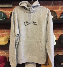 GARDEN EMBROIDERED BUBBLE HOODIE GREY
