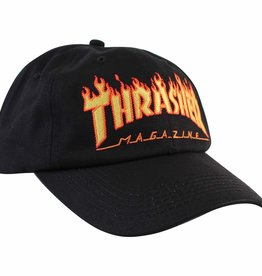 THRASHER THRASHER FLAMES OLD TIMER HAT BLACK