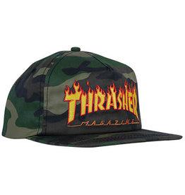 THRASHER THRASHER FLAME CAMO SNAPBACK HAT