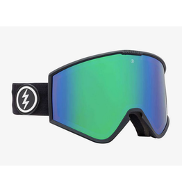 ELECTRIC ELECTRIC GOGGLE KLEVELAND MATTE BLACK BROSE/GREEN CHROME + YELLOW