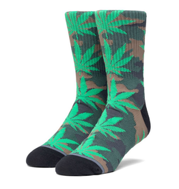 HUF HUF POP CAMO PLANTLIFE WEED MENS SOCK