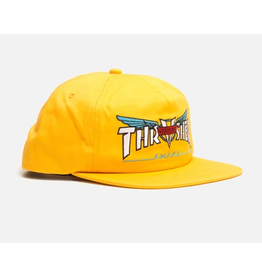 THRASHER THRASHER VENTURE COLLAB SNAPBACK HAT YELLOW