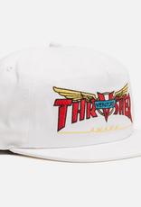 THRASHER THRASHER VENTURE COLLAB SNAPBACK HAT WHITE
