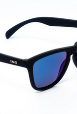 DANG SHADES DANG SHADES OG PREMIUM BLACK X BLUE MIRROR POLARIZED SUNGLASSES