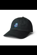 POLAR POLAR DANE FACE BLACK UNSTRUCTURED STRAPBACK CAP