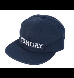 SUNDAY SUNDAY ROCKWELL UNSTRUCTURED HAT NAVY BLUE
