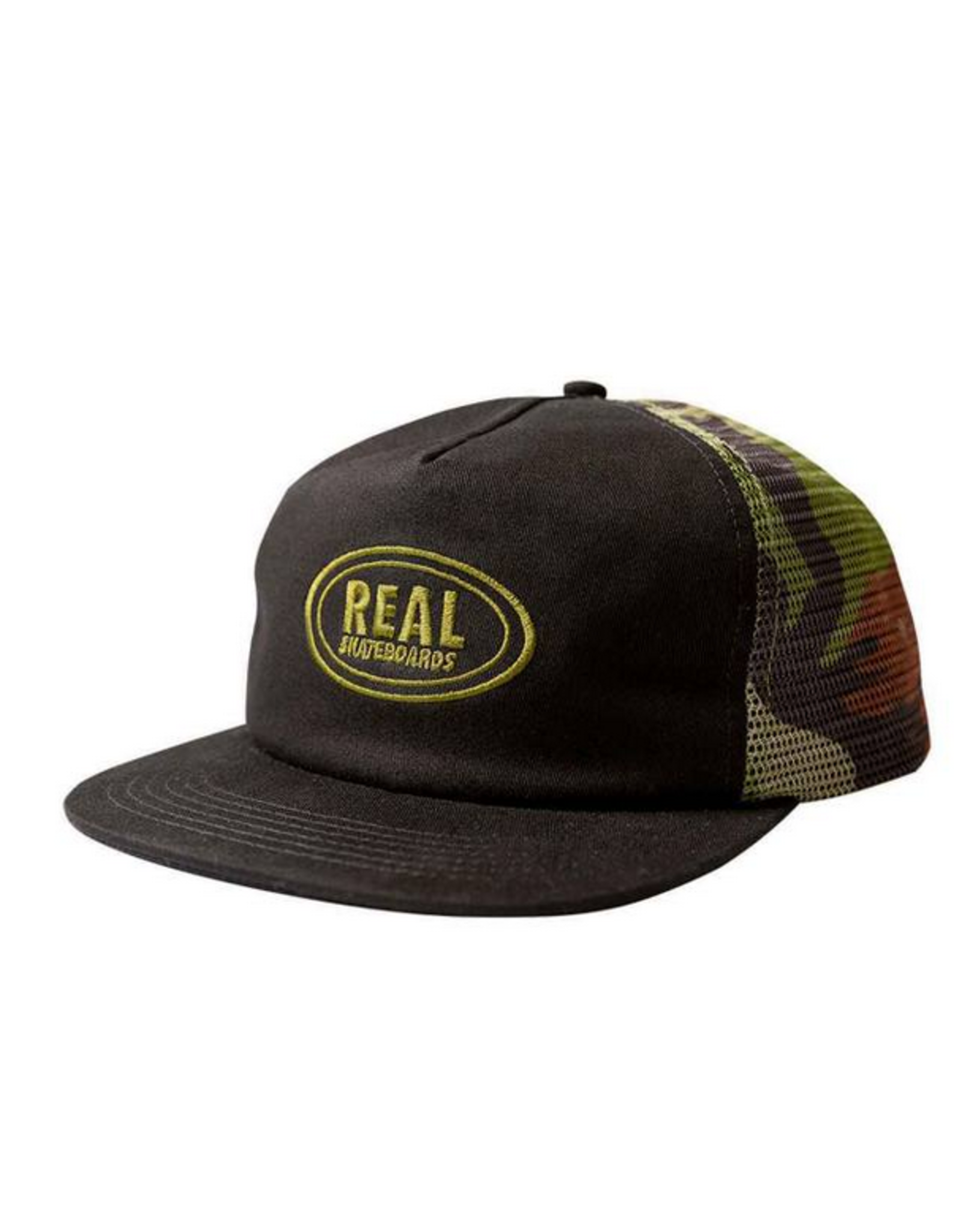 REAL REAL OVAL MESH CAMO SNAPBACK HAT