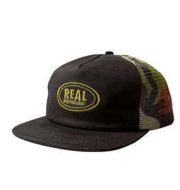REAL REAL OVAL MESH CAMO SNAPBACK HAT