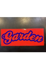GARDEN GARDEN RECTANGLE BUBBLE LOGO SLAP STICKER