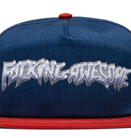FUCKING AWESOME FUCKING AWESOME CHROME HAT NAVY/RED