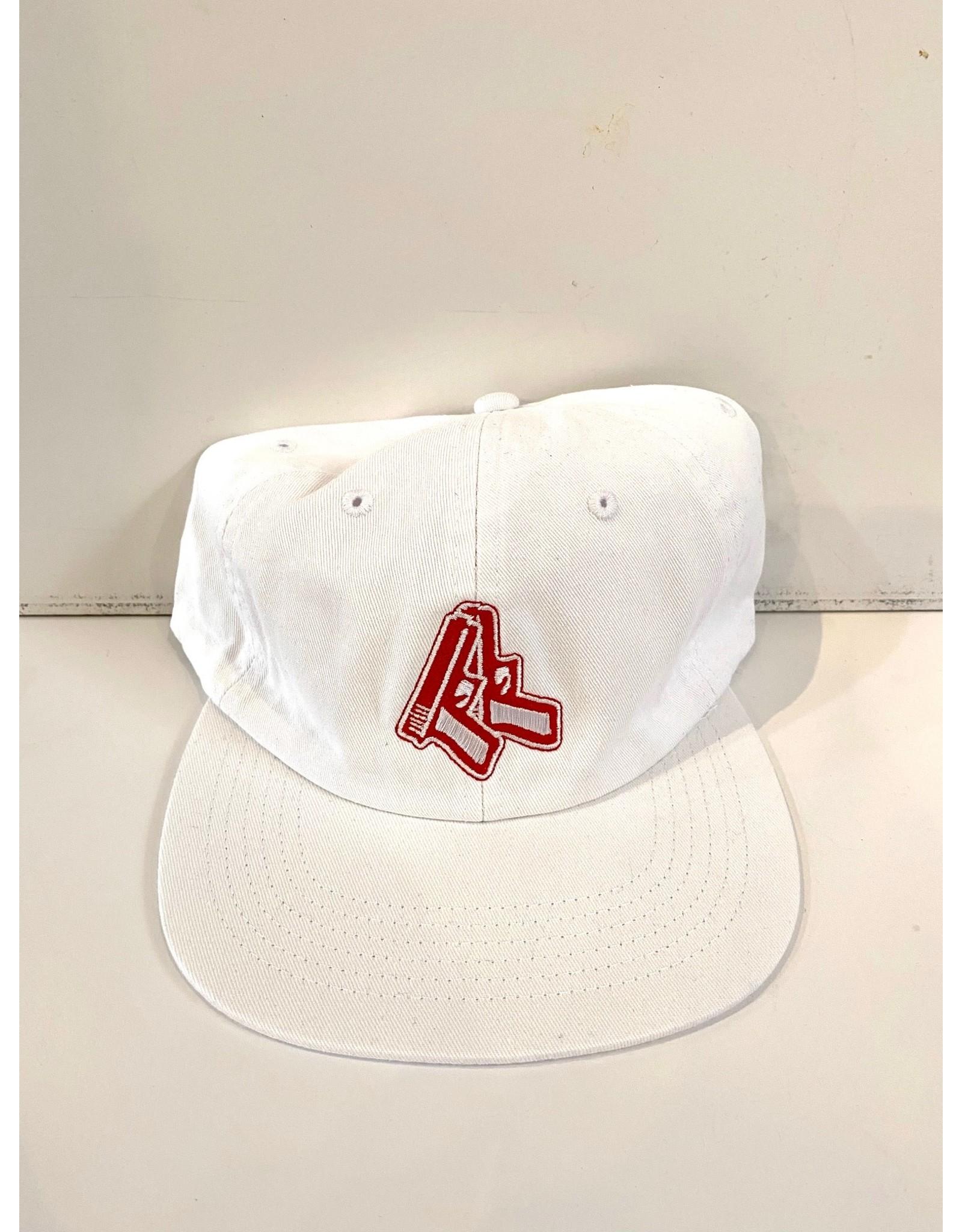 GARDEN GARDEN RED GLOX UNSTRUCTURED HAT CLIPBACK WHITE