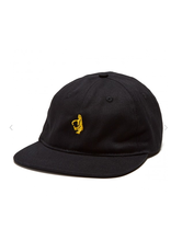 KROOKED KROOKED UNSTRUCTURED SHMOO STRAPBACK HAT BLACK