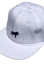 HOPPS HOPPS LION STRAPBACK HAT WHITE