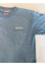 GARDEN GARDEN EMBROIDERED POCKET TEE CAROLINA BLUE W/WHITE