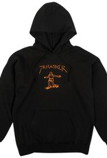 THRASHER THRASHER GONZ PULLOVER HOODIE BLACK