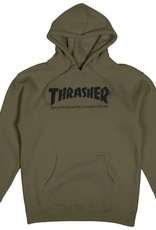 THRASHER THRASHER SKATE MAG PULLOVER HOODIE ARMY GREEN