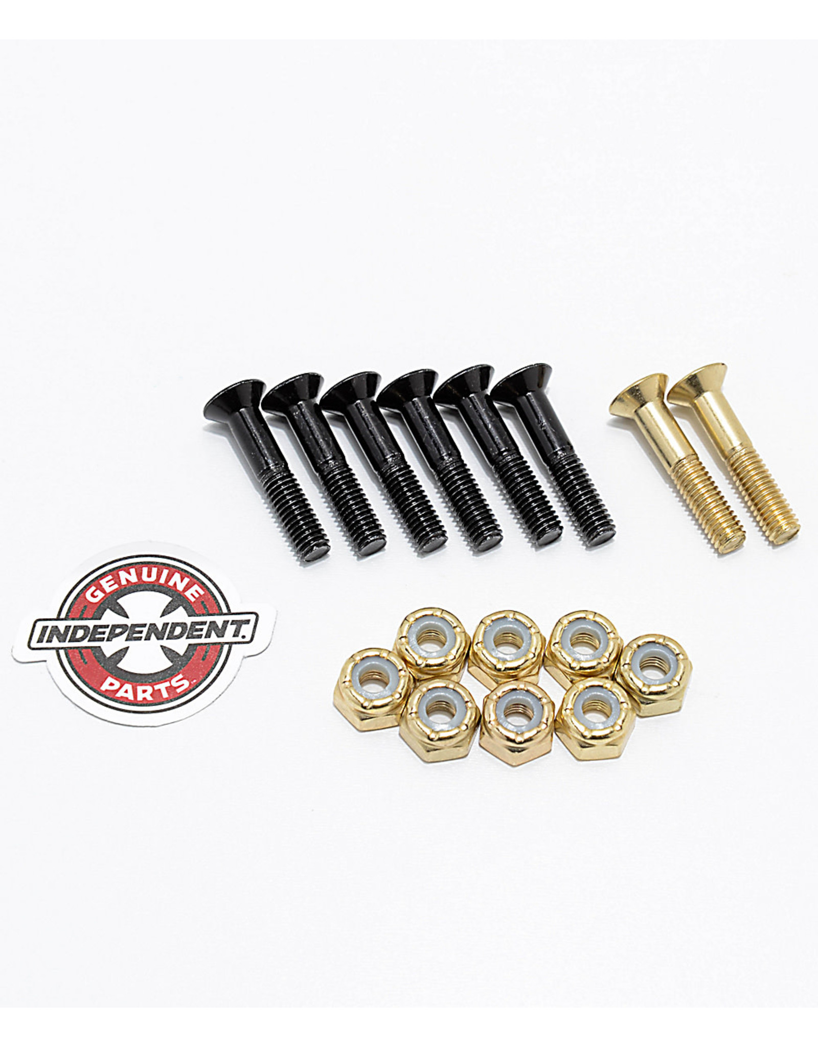 "INDY INDEPENDENT 1"" CROSS BOLTS HARDWARE PHILLIPS 2 GOLD SCREWS"