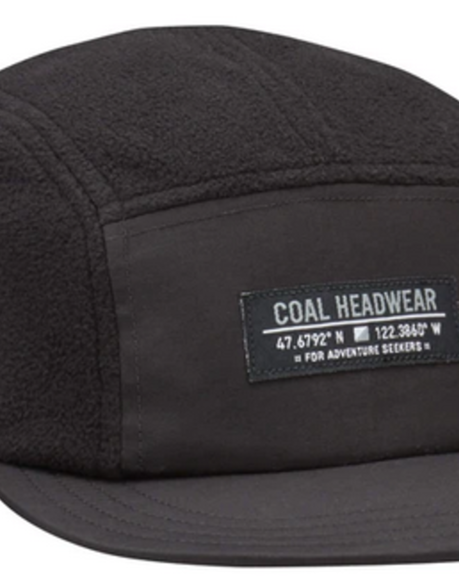 COAL COAL BRIDGER FLEECE 5 PANEL CAP BLACK