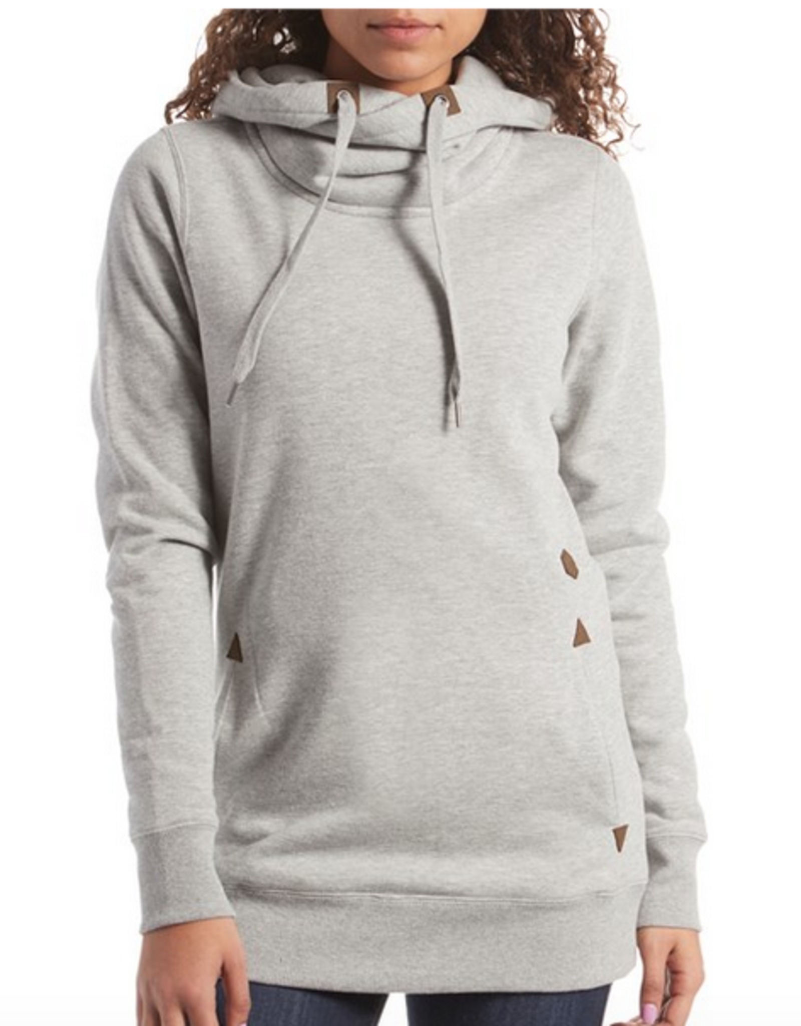 VOLCOM VOLCOM TOWER PULLOVER FLEECE HOODIE HEATHER GREY