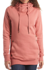VOLCOM VOLCOM TOWER PULLOVER FLEECE HOODIE ROSE