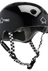 PRO-TEC CLASSIC SKATE HELMET GLOSS BLACK/CHECKERED