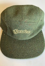 GARDEN GARDEN BUBBLE LOGO TWEED 5 PANEL HAT GREEN
