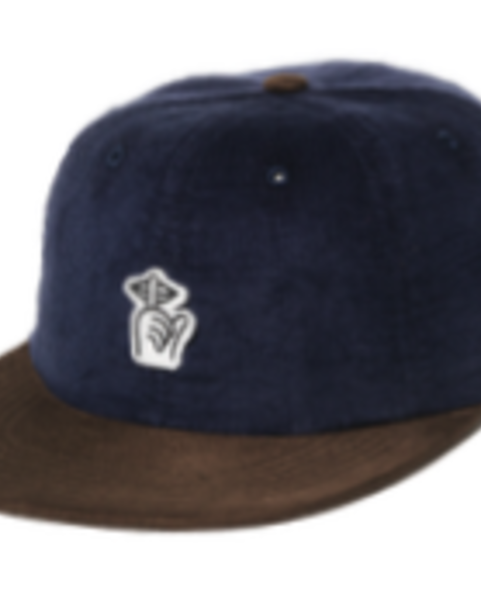 THE QUIET LIFE THE QUIET LIFE CORD FELT PATCH NAVY BROWN CAP