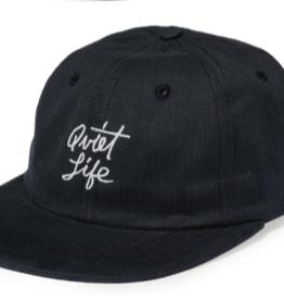 THE QUIET LIFE THE QUIET LIFE SCRIPT POLO BLACK CAP