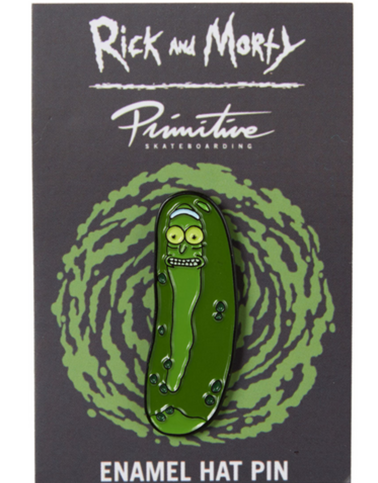 PRIMITIVE PRIMITIVE PICKLE RICK ENAMEL PIN