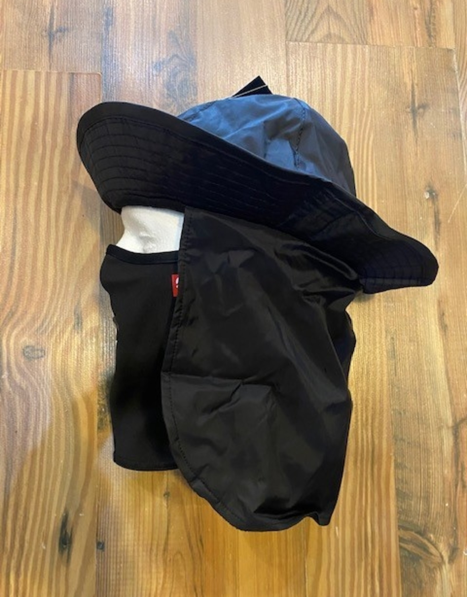 AIRHOLE AIRHOLE BUCKET TECH HAT/FACEMASK BLACK