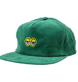 KROOKED KROOKED EYES  CORDUROY SNAPBACK HAT DARK GREEN
