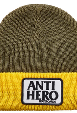 SPITFIRE ANTI-HERO RESERVE PATCH CUFF BEANIE GREEN YELLOW
